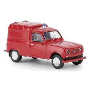 Brekina 14747 1/87 Ho Renault R4 Van Firefighter Car Miniature H0
