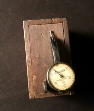 Vintage Testmaster Dial Indicator 001 With Wooden Box Federal Products