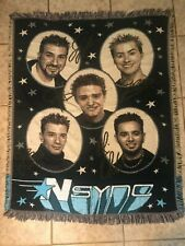 Vintage Nsync Boy Band Tapestry Throw Blanket 42x53 Northwest Company