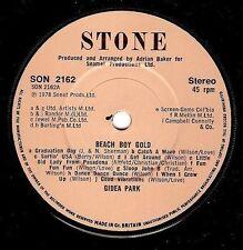 "Gidea Parque Playa Niño Oro 7"" single vinyl record 45 Rpm Piedra 1978 ex"