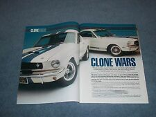"1965 Shelby GT350 Mustang Article ""Clone Wars"" 1966 Fastback"