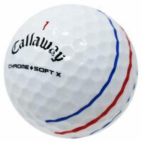 12 Callaway Chrome Soft X Triple Track AAAA/Near Mint Recycled Golf Balls