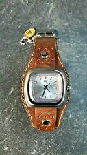 Superbe Montre LIP Big TV homme ref 1870432 gros bracelet cuir