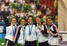 Mia Hamm Chastain Fawcett Foudy Lilly signed 2004 Olympic soccer 16x20 photo JSA