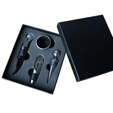 Wine Accessory Kit Gift Bottle Opener Drip Ring Corkscrew with Stopper Cutter