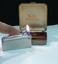 BRIQUET Ancien @ MARUMAN type Varaflamec & écrin & Acc @ Gas Lighter * Feuerzeug