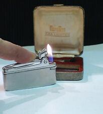 BRIQUET Ancien @ MARUMAN type Varaflamec & écrin & Acc @ Gas Lighter * Feuerzeug