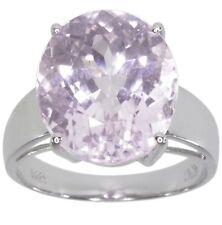 Kunzite Gemstone Oval Sterling Silver Ring size M
