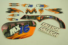 """16"""" RALEIGH MX16 DECAL TRANSFER SET,STICKER PACK SUIT OTHER BIKES WTFRX16"""