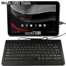 Teclado De Cuero Universal Micro USB Plug and Play Con Cable Para Tablet Varios