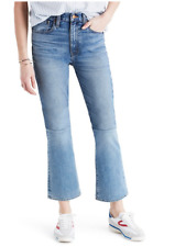 NWT Madewell Retro Crop Bootcut Denim Jeans Two-Tone Indigo Edition $149 Size 29