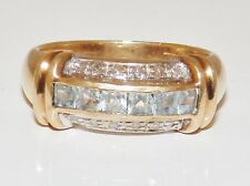 Princess 9 Carat Anniversary Yellow Gold Fine Diamond Rings