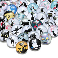 20pcs/lot Cute Black Cat 18mm Chunk Ginger Snap Button Charms Fit Snaps Jewelry