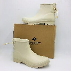 Sperry Women's Walker Turf Rain Booties Ivory,  Size 11
