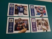2002 UPPER DECK PIECE OF HISTORY COMPLETE BASE SET 1-100 BRADY MANNING WARNER UD
