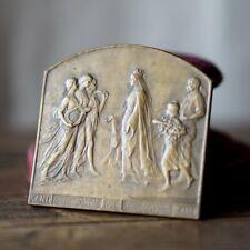 Médaillon bronze ancien commémoratif exposition universelle Gand 1913 Devereese