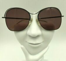 Vintage Logo Paris Silver Metal Butterfly Half-Rimmed Sunglasses Frames France