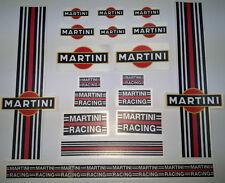 Kit 18 adesivi martini racing moto-casco-auto fondo nero