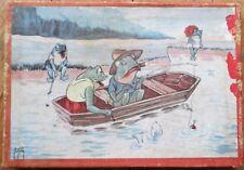 Jacob Jansma/Artist-Signed 1940s Frog Puzzle Toy w/Original Box- Anthropomorphic
