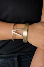 Paparazzi Bracelet Brass Geometrical Tribal Cuff Jewelry - Rural Ruler
