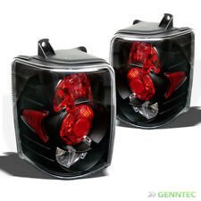 For 93-98 Jeep Grand Cherokee Blk Altezza Tail Lights Rear Brake Lamp Pair New
