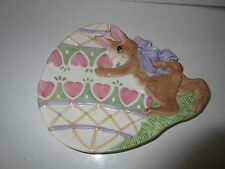 Fitz and Floyd Easter Bunny Candy Dish