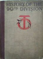 WW1 History Book History of the 90th Division Wythe Hardcover 1st Edition