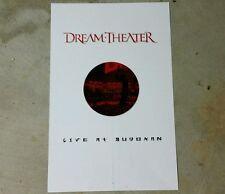RARE! DREAM THEATER Promo POSTER 17x11. LP. CD live at Buddkan tack holes def