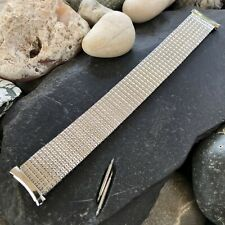 rare Bulova SlimLine Stainless Steel 1970s Vintage Watch Band 20mm 19mm 18mm
