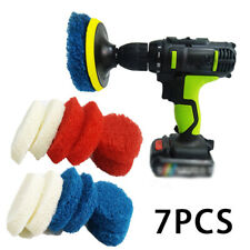 7pcs/set Scouring Pads Disc Cleaning Tool Kit For Water Stains Bathtubs Toilets