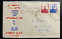 1957 Ireland First Day Cover FDC Admiral Brown Argentine Navy Founder