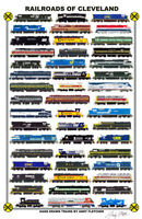 "Railroads of Cleveland 11""x17"" Railroad Poster by Andy Fletcher signed"