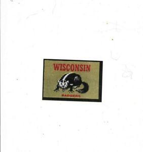 1960 Topps Wisconsin Badgers Metallic Sticker NMMT Top Condition