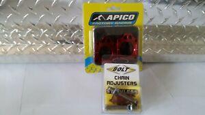APICO REAR WHEEL AXLE BLOCKS CHAIN ADJUSTERS 02-21 CR 125 CR 250 CRF 250 CRF 450