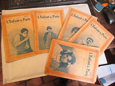 """""""L'enfant de Paris"""" Photo Film Gaumont Complet 5 numéros Romans Cinéma 1917"""