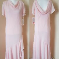 East 5Th Cowl Neck Maxi Long Pink Prom Wedding Dress Occassion USA 14 UK 16