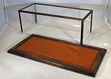 1/24 Scale Walnut Car Display Case  w/Butterscotch Felt Floor - by Oak Hill Cra