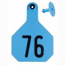 Y-Tex Large 4-Star Tags Adult Cattle Fade Tear Resistent #76-100 Blue 25ct pk