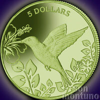 2017 HUMMINGBIRD 990 TITANIUM Coin in BOX + COA British Virgin Islands $5 DOLLAR