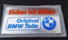 Aufkleber Etikett Original BMW-Teile Logo Propeller 70er Jahre Oldtimer Motorrad