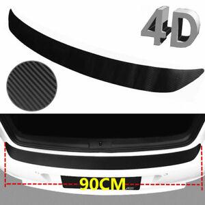 US Carbon Fiber Car Rear Guard Bumper 4D Sticker Panel Protector Accessories 1PC