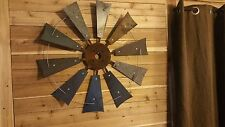 "30"" Rustic Windmill Western Wall Decor hand made in waco tx"