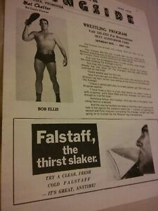 VINTAGE Gagne Wrestling program WWF NWA 1971 Ellis Avenger Lewis ladies Dibiase