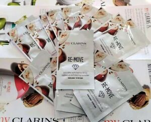 9X MY CLARINS RE-MOVE EXFOLIATING POWDER (9 USES) SAMPLE PACKETS TRAVEL 2G*9