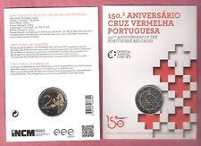 PORTUGAL 2 EURO 2015 BU UNC 150 JAAR RODE KRUIS PORTUGAL