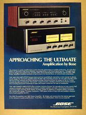 1975 Bose 1801 Power Amplifier 4401 Preamp vintage print Ad