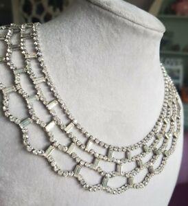 Beautiful Vintage Sparkly Diamonte Statement collar Necklace.