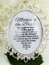 Mother Of The Bride Bouquet Charm Thank You Gift Wedding Favour Mum Silver Charm
