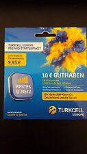 Original Telekom D1 Turkcell Prepaid Karte 10€ Guthaben wie Xtra Card Xtra Karte