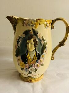 Vintage Large Robert Burns Toby Beswick Pottery Pitcher England FREE US SHIPPING